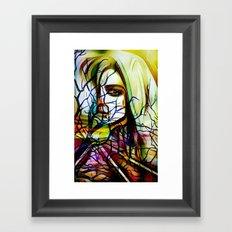 mysterious woman x Framed Art Print