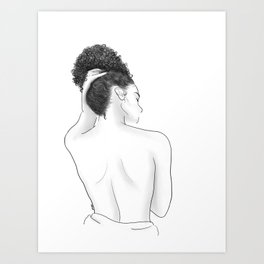 Kiss Me On My Neck Art Print