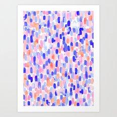 Delight Blue Orange Art Print