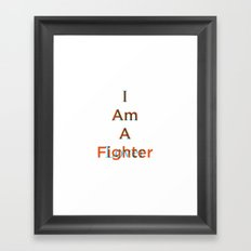 Lover and a Fighter Framed Art Print