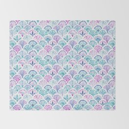 SHELL OUT Boho Mermaid Scales Throw Blanket