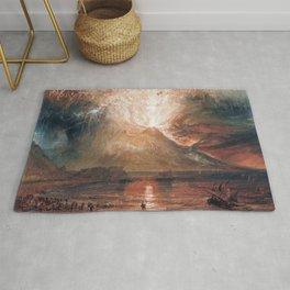 Vesuvius in Eruption by J. M. W. Turner (1820) Rug