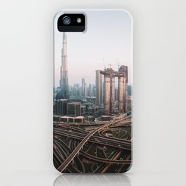 Dubai Skyline Sunset   Travel Photography    iPhone Case