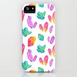 Watercolor Crystals iPhone Case