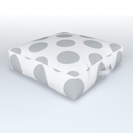 Light Grey Large Polka Dots Pattern Outdoor Floor Cushion