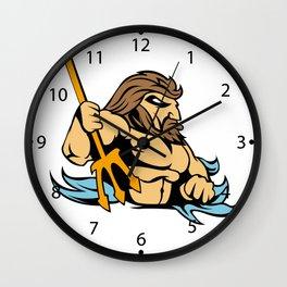 Neptune Poseidon Trident  Retro Wall Clock