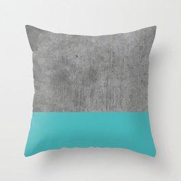 Concrete x Blue Throw Pillow