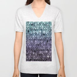 MAGIC MERMAID - MYSTIC TEAL-PURPLE Unisex V-Neck
