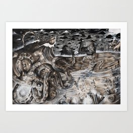 Tales from the black sea Art Print