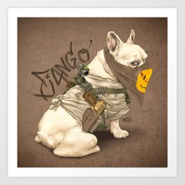 Doggy Vigilante // Django the French Bulldog Art Print