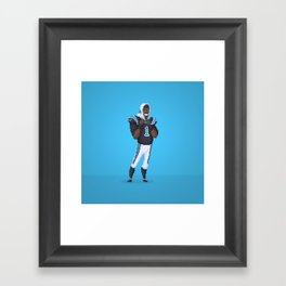 Cam Newton Framed Art Print