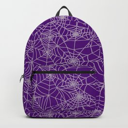 Purple Cobwebs Backpack