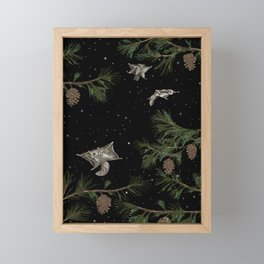 FLYING SQUIRRELS IN THE PINES Framed Mini Art Print