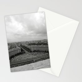 Bird's Eye View of Bucharest, Romania Stationery Cards