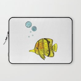 Yellow Fish Laptop Sleeve