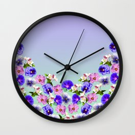 Flowers In My Garden Wall Clock