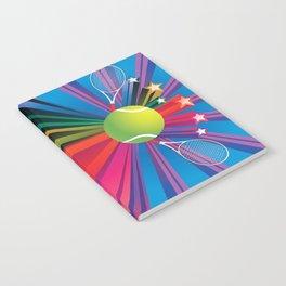 Tennis ball with rackets Notebook