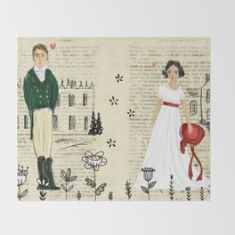 Mr.Darcy of Pemberley and Miss Bennet of Longbourn Throw Blanket