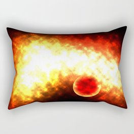 Explosion in Space Rectangular Pillow