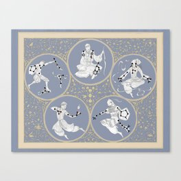 Amino Acid Horoscope - Overlay Canvas Print