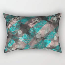 Bubblicious - Teal Pink & Taupe Palette Rectangular Pillow
