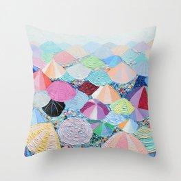 Beach Party Throw Pillow