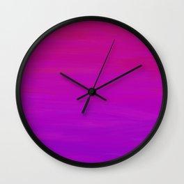 Purple Dusk Ombre Wall Clock