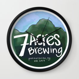 7 Acres Brewing Badge Wall Clock