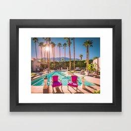 2381 Mid-Century Modern Stanbridge Estate Palm Springs Framed Art Print