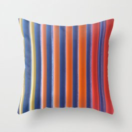 Hot & Cold Stripes Throw Pillow