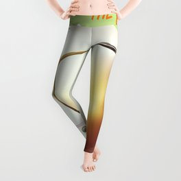 Explore the Universe vintage poster Leggings