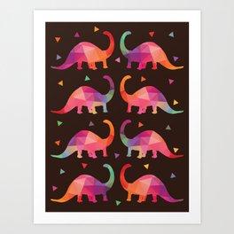 Geometric Dinosaurs Art Print