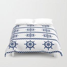 Blue Sea Rope Navy Pattern Duvet Cover