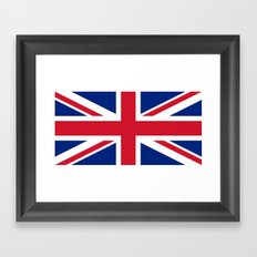 Union Jack, Authentic color and scale 1:2 Framed Art Print