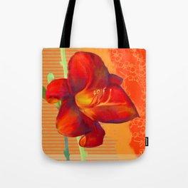 Orange Lily Tote Bag