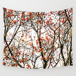 Red rowan fruits or ash berries Wall Tapestry
