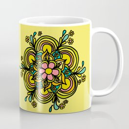 Flower Power Mandala Positive Vibes Flow Freely Coffee Mug