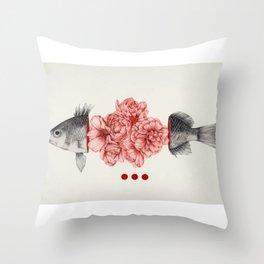 Speechless as a fish Throw Pillow