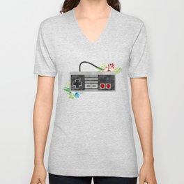 Here We Are Now, Entertain NES Unisex V-Neck