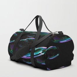 IRIDESCENT SOAP BUBBLES  BLACK COLOR Duffle Bag