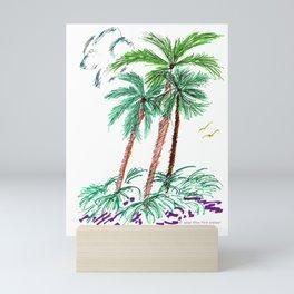 """Triplet Palms"" Mini Art Print"