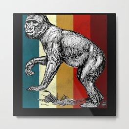 Retro Monkey Monkey Lovers Gift Metal Print