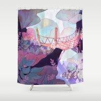 bridge Shower Curtains featuring Bridge by sarlisart
