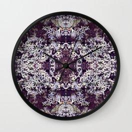 Mirrored Lichen Wall Clock