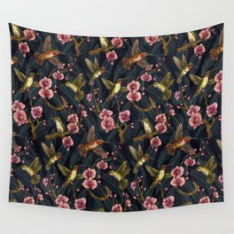 Hummingbird Pattern Wall Tapestry
