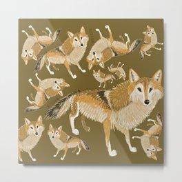 Tibetan wolf (pattern) Metal Print