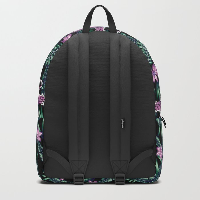 tiger in the jungle pattern Backpack