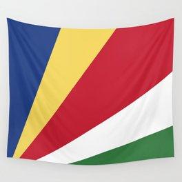 Seychelles flag emblem Wall Tapestry