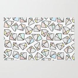 Polygonal stones and gemstones Rug