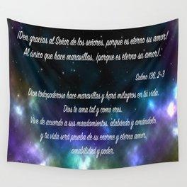 Estrellas en galaxia - Salmo 136, 2-3 Wall Tapestry